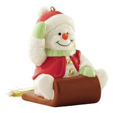 Snowman on Sleigh