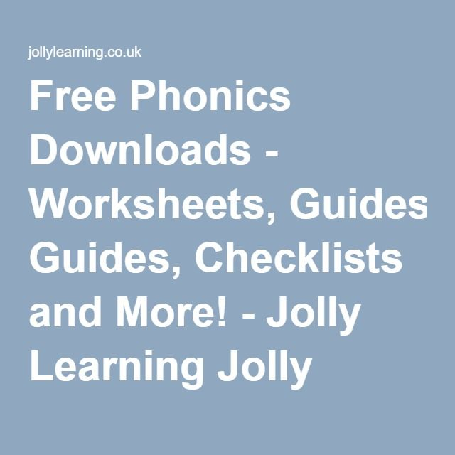 free phonics downloads worksheets guides checklists and more jolly learning jolly. Black Bedroom Furniture Sets. Home Design Ideas