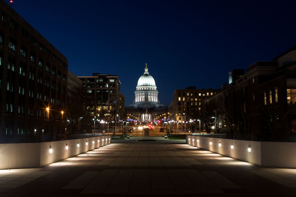 State Capitol. Madison, Wisconsin.  I loved this city while going to the university.