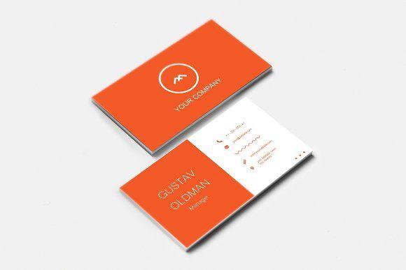 Simple Orange Business Card Business Card Design Minimal Business Card Template Design Business Cards Creative Templates