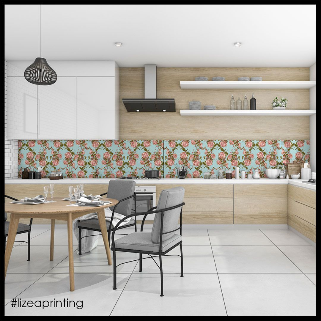 Pannelli Per Schienale Cucina.Pannello Retro Cucina Floreale 10 Grafiche A Vostra