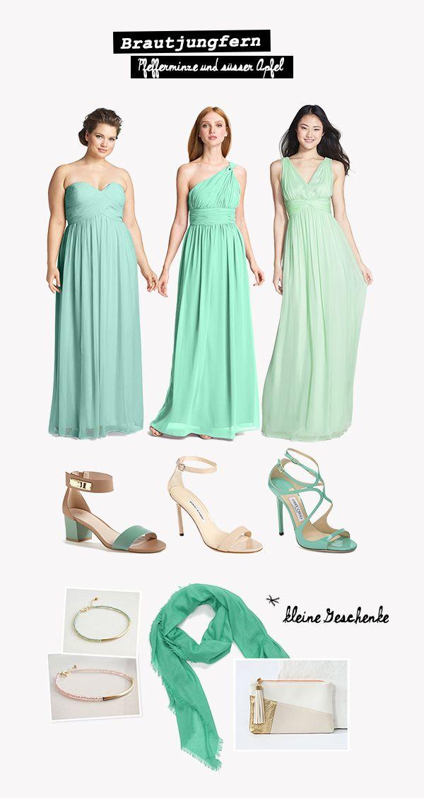 Brautjungfernkleider in den schönsten pastelligen Grüntönen ...