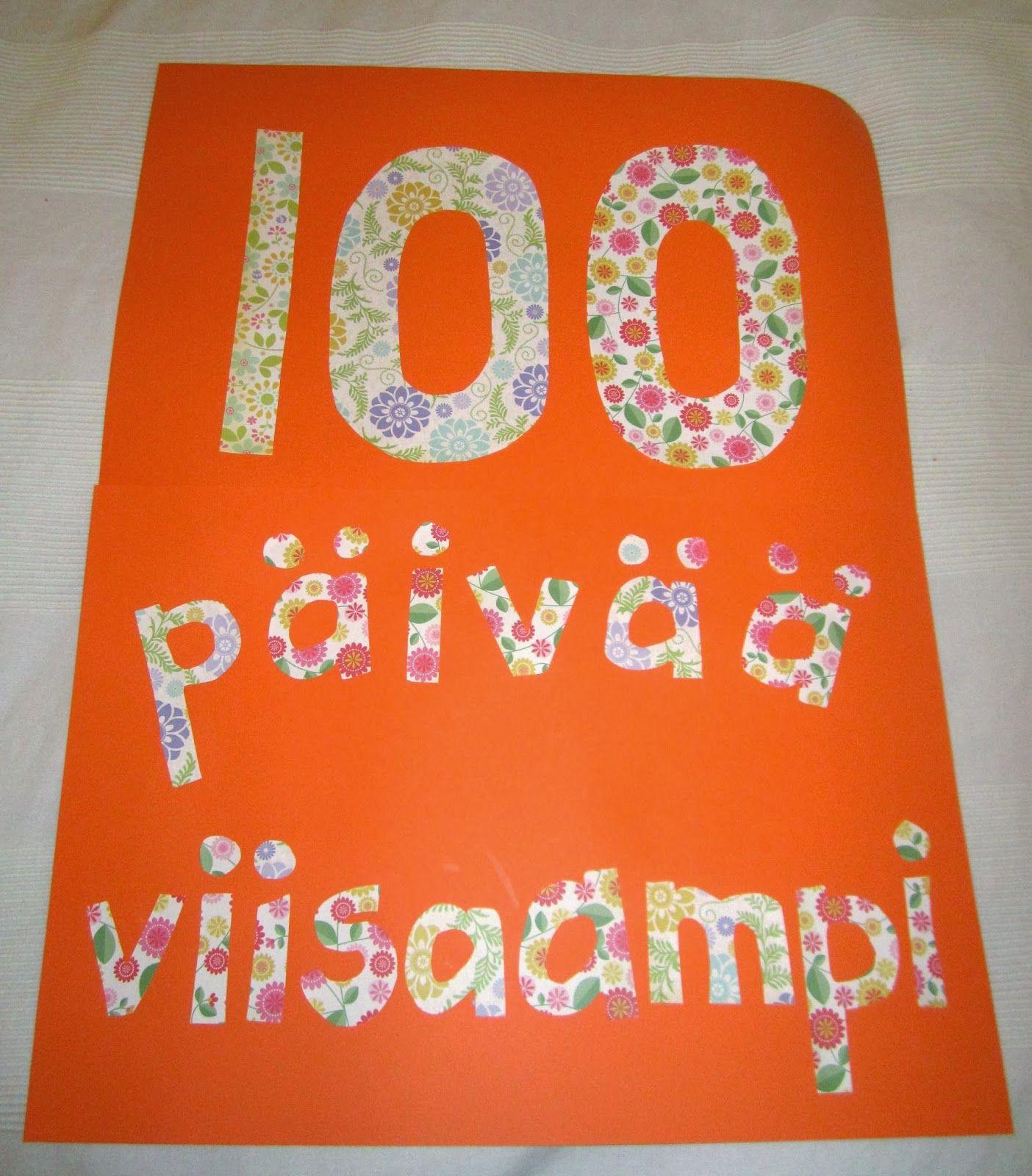 Juhlitaan 100. koulupäivää   Luokan omat jutut   Pinterest   Kokon
