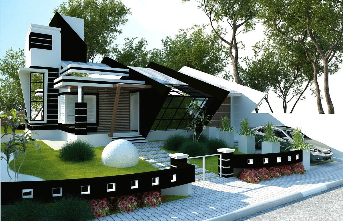 10 fachadas para casas modernas house elevation and house for Fachadas de casas modernas
