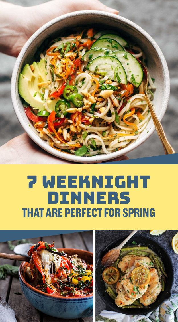 7 Weeknight Dinners That Are Perfect For Spring Dinner
