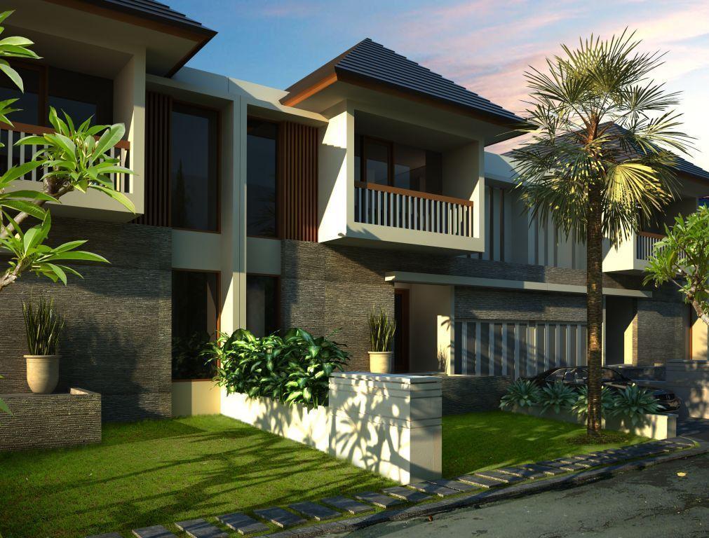 Desain Rumah Yang Dirancang Andreas Indarto Ini Atapnya Sederhana Perpaduan Antara Atap Miring Dan Dak Beton Adanya Bata Expose Yang Desain Rumah Desain Rumah