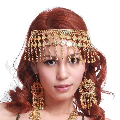 Belly Dance Dancing Headdress Hairpin Head Buckle Headband Jewelry Gold//Silver