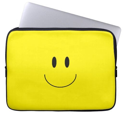 """""""Happy Face"""" Laptop Sleeve will brighten anyone's day!"""