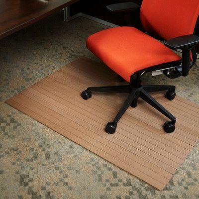 "Wildon Home  Low Pile Bamboo Composite Office Chair Mat Lip: No, Color: Chestnut, Size: 48"" W x 51"" D"
