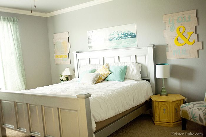 Nice Gray And Yellow Master Bedroom Ideas Part - 11: Yellow And Gray Master Bedroom W/ Aqua And Mint Accents. LOVE It.
