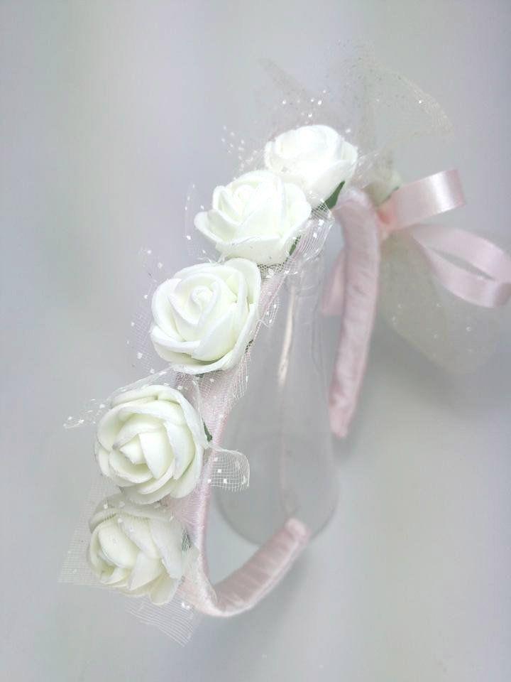 Fatto a mano farfalla di cristallo fascia Damigelle FLOWER GIRL altri colori