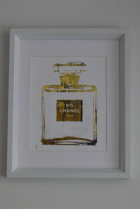 ca85fe3f3160 great print Chanel No 5, Coco Chanel, Chanel Print, Parfumerie, Gold Diy