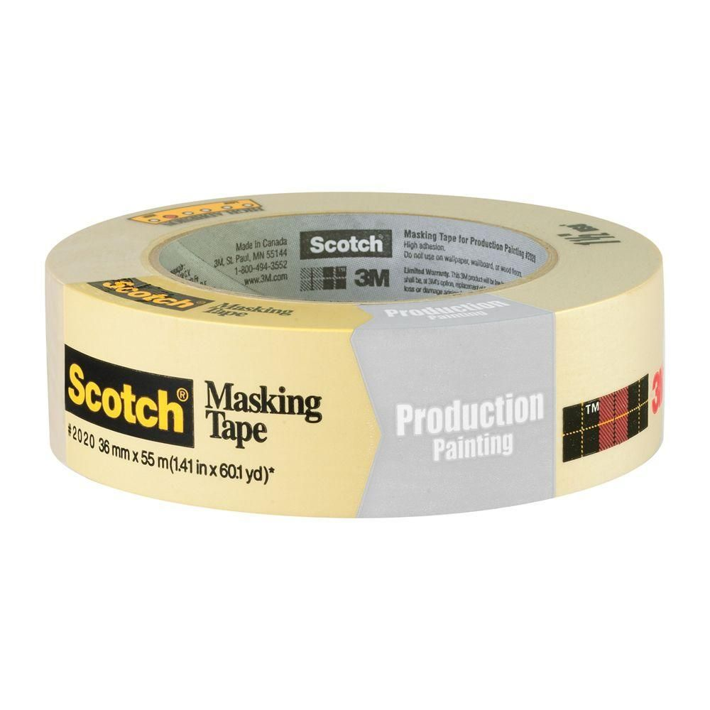 3m Ssku Issue Scotch 1 41 In X 60 1 Yds Painting Production Masking Tape Case Of 24 Beige Masking Tape