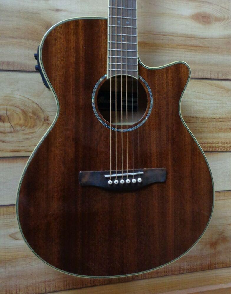 New Ibanez Aeg12ii Acoustic Electric Guitar Natural Mahogany Ibanez Acoustic Electric Guitar Ibanez Guitars Guitar