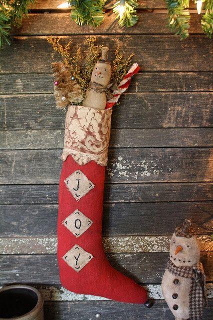 primitive christmas stocking - Primitive Christmas Stockings