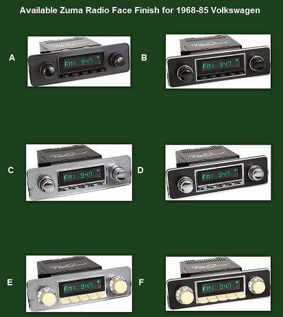 RetroSound Zuma Radio w/Euro Style Faceplate for 1968-85 VW