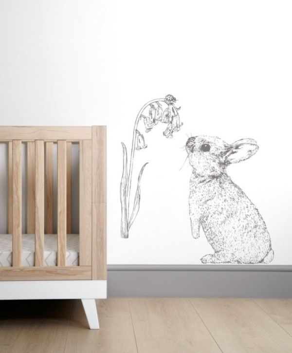 Rabbit Wall Sticker   Bunny   Pinterest   Arredamento and Bambini