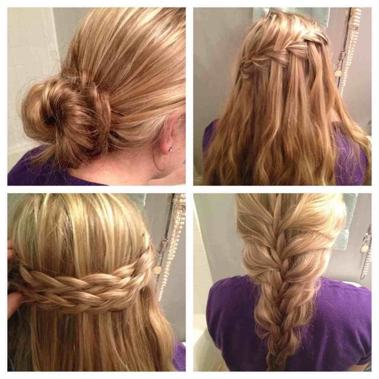 Classy half up half down pigtails mins school hair minute