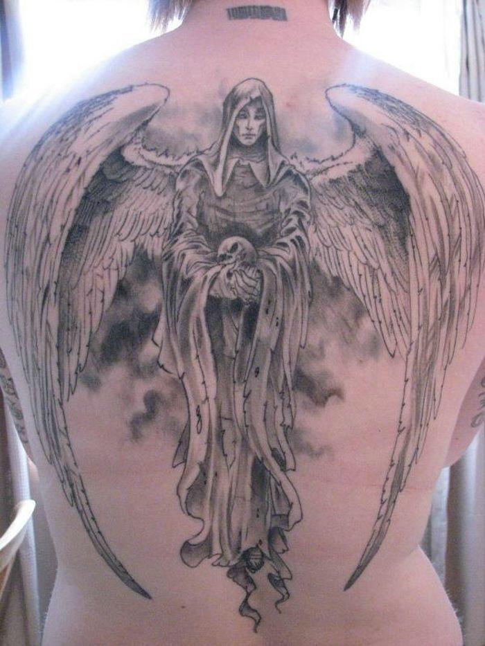 0c9abc4fdbefa Dark Angel Tattoo Designs On Back | Sleeve Tattoos | Angel tattoo ...