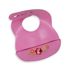 Disney Bibbity® Rinse and Roll Bib by Summer Infant. Bib is 100% waterproof and spills are caught by the built-in scoop. After you've finished feeding your child, simply rinse the bib clean. The Bibbity® rolls into its own scoop for compact storage in a bag when on the go. infant baby registry need bib