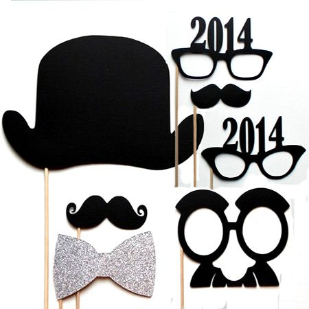 gold white silver new years even party decor ideas ...