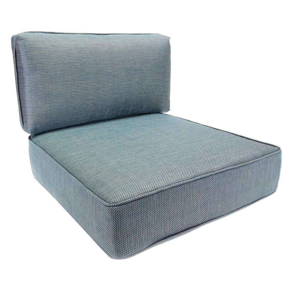hampton bay fenton 24.75 x 22.5 outdoor lounge chair cushion
