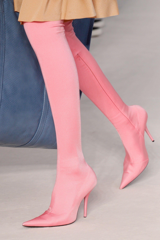 bd8bef82ba5f Balenciaga pink sock boots - See more at www.HerFashionedLife.com