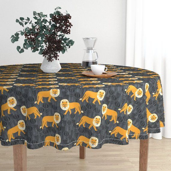 The luxe, heavy cotton sateen Malay tablecloth will elevate your round dining table with one-of-a-kind pattern and color. The Malay tablecloth is made of our durable, wrinkle-resistant, Luxe Cotton Sateen and features a double folded 1/2