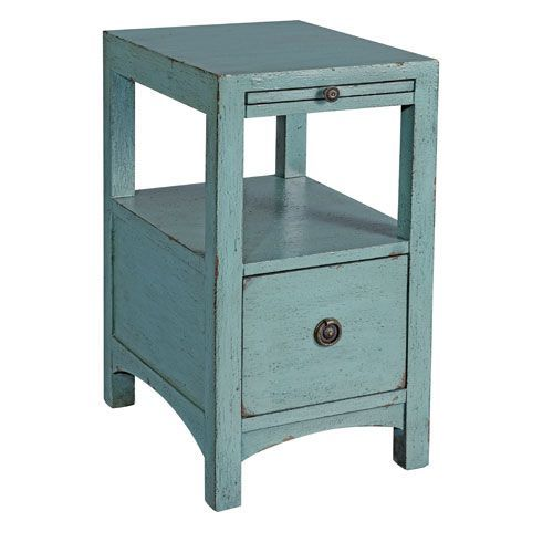 Best Coast To Coast Imports Textured Blue Side Table 56432 400 x 300
