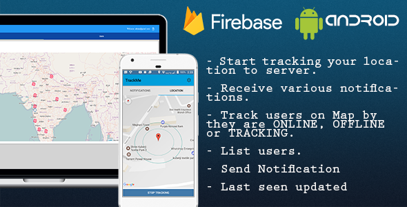 TrackMe, Realtime location tracking system  Firebase, Polymer