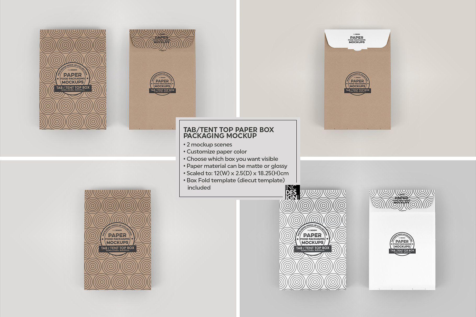 Download Tab Tent Top Box Packaging Mockup Packaging Mockup Box Packaging Free Packaging Mockup
