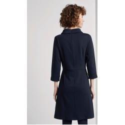 Tom Tailor Damen Kleid mit Rollkragen, blau, unifarben, Gr.44 Tom TailorTom Tailor