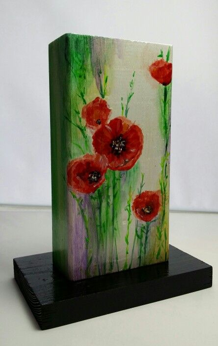 """Poppies"", 190 x 90 x 42 mm"