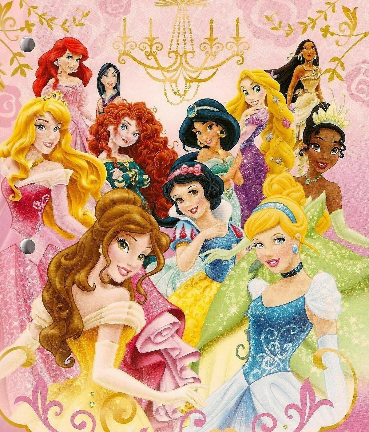 Ariel Aurora Merida Jasmine Rapunzel Pocahontas Tiana Belle Snow White Cinderel Disney Princess Pictures Disney Princess Art Disney Princess Wallpaper