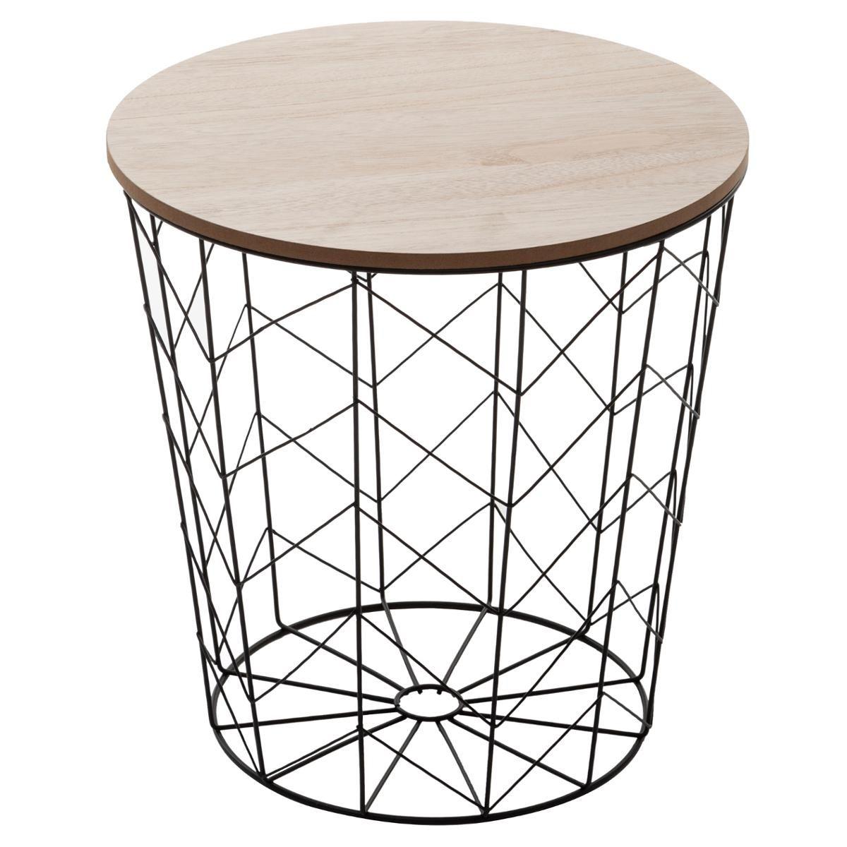 Table A Cafe Noire Kumi En Metal En 2020 Table Cafe Table D Appoint Table