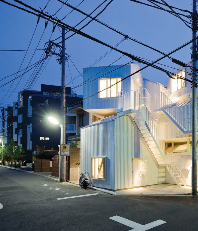 Captivating Resembling A Jumble Of Houses Piled On Top Of One Another, A Dynamic Tokyo  Apartment Nice Design