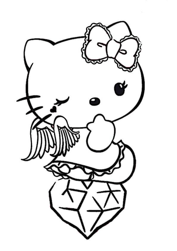 Pin by Ausmalbilder on Hello Kitty Hello kitty Coloring