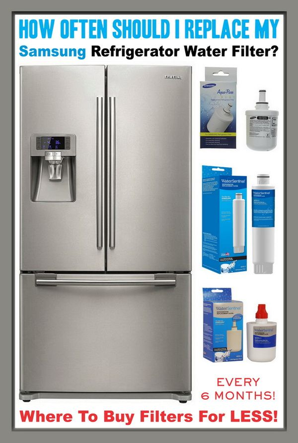 How Often Should I Replace My Samsung Refrigerator Water Filter