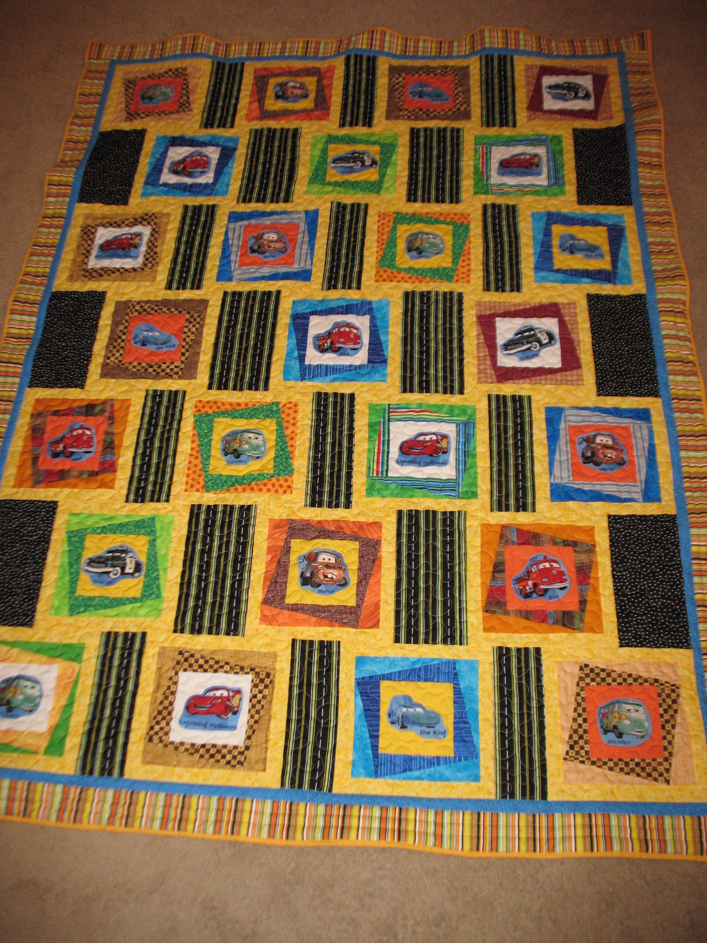 This Is A Fun Cars Quilt I Made For My Grandson I Spy