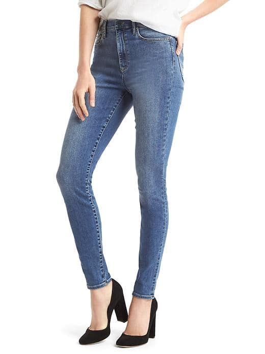 High rise jeans at the gap