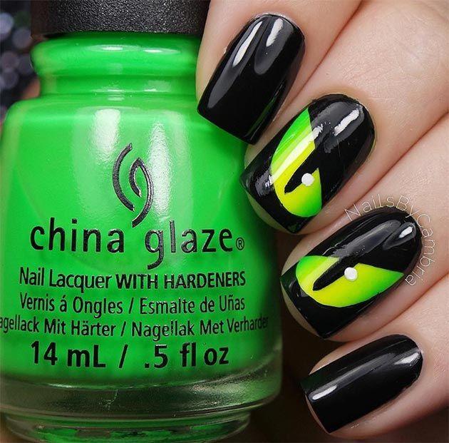 40 diseños de uñas decoradas para Halloween, ¡terroríficas! | Nail ...