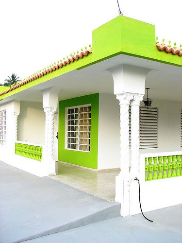 Lime Green House Dream House Good House Green