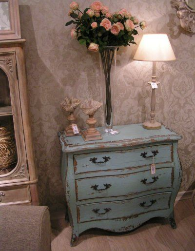 Coach House Etienne French Aquamarine Blue 3 Drawer Chest