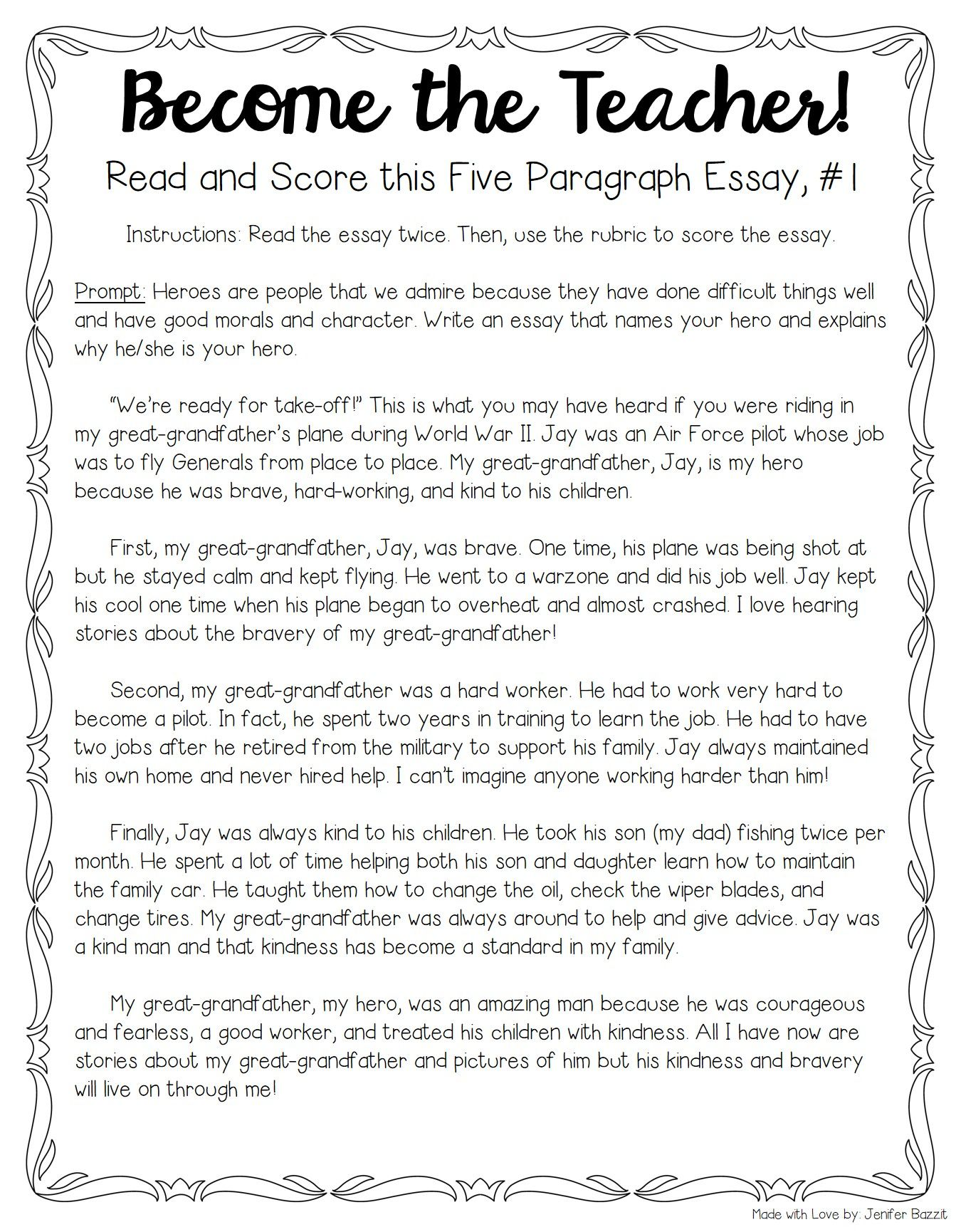 Tips For Teaching  Grading Five Paragraph Essays  Rd Grade  For Several Years Now Th Grade Teacher Jenifer Bazzit Has Been Teaching  Five Paragraph Essay Structure And Everything That Goes With It See Her  Tips