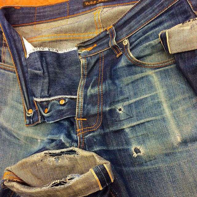 These Dry Selvage Grim Timu0027s Belonged To Kip Who Wore These Bad Boys For 2  Years