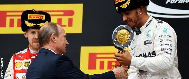Vladimir Putin, Lewis Hamilton, Russian Grand Prix