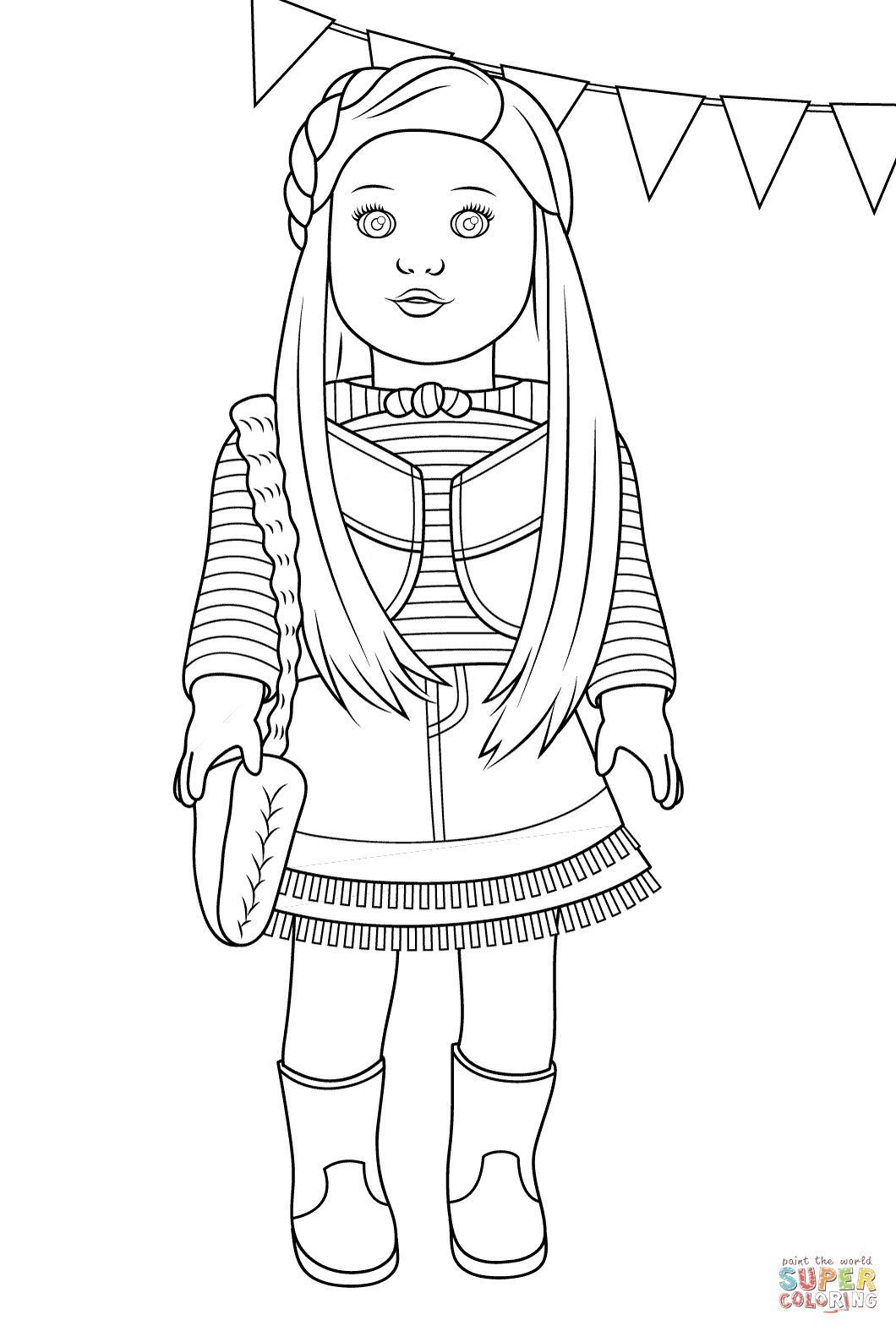 Grab Your Fresh Coloring Pages American Girl Free Http Gethighit Com Fresh Color American Girl Doll Printables American Girl Birthday American Girl Parties