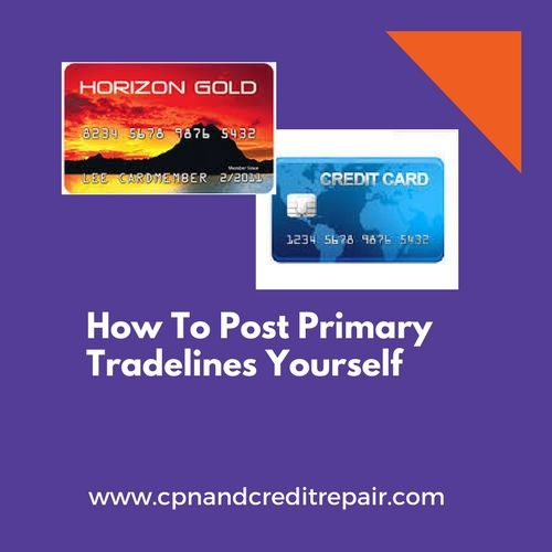 This is informative to you how to post primary tradelines
