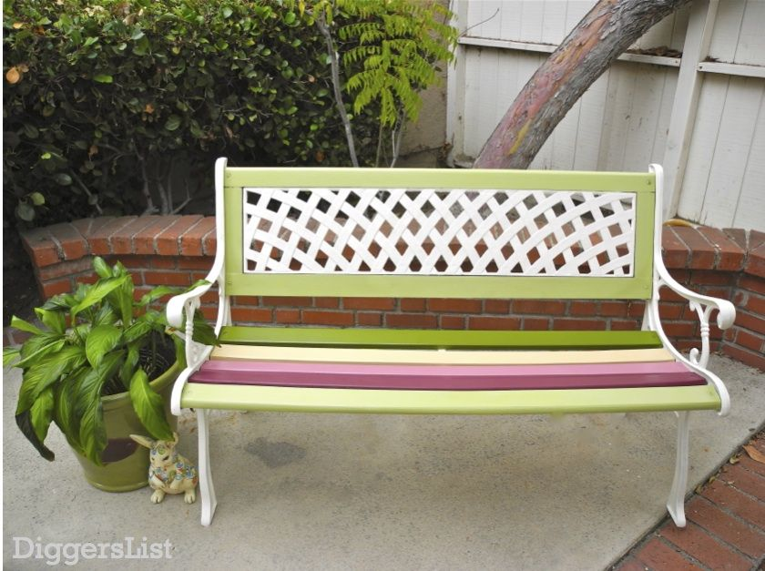 Enjoyable Weekend Diy Project Wow Up An Old Park Bench Homejelly Pdpeps Interior Chair Design Pdpepsorg