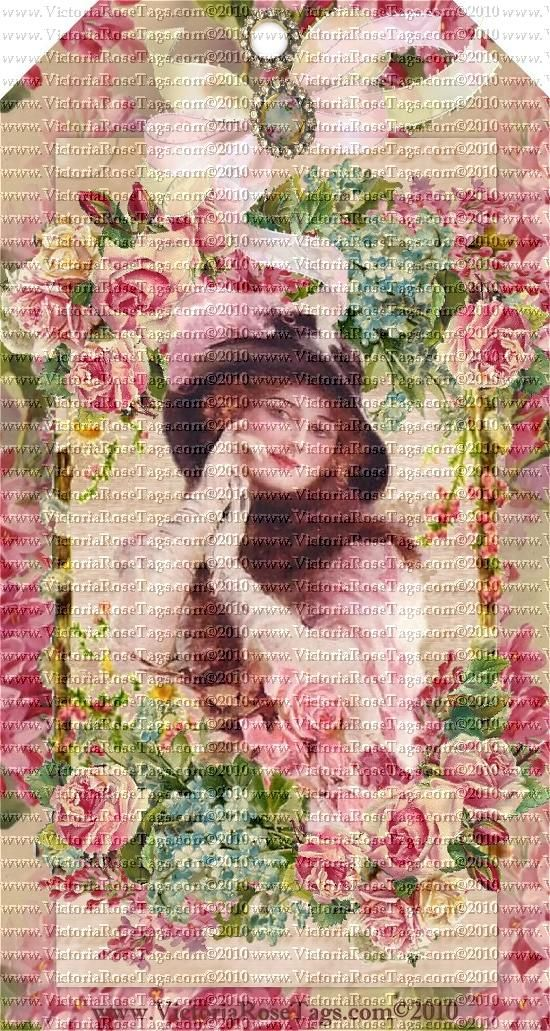 Victoria's Vintage Rose Bouquets Series Set 13 Victorian Ladies